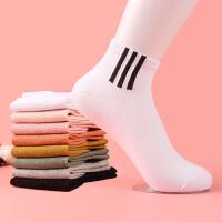女士休闲潮流运动短袜纯色棉质船袜棉袜春夏秋季短腰袜子百搭学生