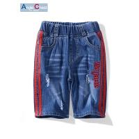 牛仔短裤男童夏季儿童破洞童裤中大童休闲中裤