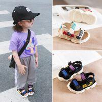 宝宝凉鞋1-3岁男童夏季软底包头小童儿童鞋0-2女童婴儿软底学步鞋