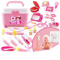 儿童医生玩具套装宝宝打针听诊器女孩箱仿真过家家北美玩具