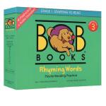 【三阶段】新版 Bob Books Set 3 Rhyming Words 鲍勃阅读 儿童启蒙词汇 附卡片 英文原版