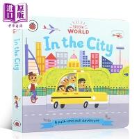 【中商原版】little world: in the city 企鹅小世界:大城市 推拉书低幼亲子互动启蒙绘本 纸板书