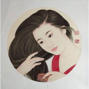 王美芳 当代著名人物画家 人物画作品