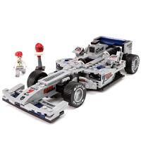积木方程式F1赛车模型蓝光银箭立体百变拼装拼插启蒙益智男孩子儿童玩具礼物 方程式F1蓝光银箭
