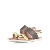 【秋冬新款 限时1折起】爱旅儿凉鞋女平跟露趾凉鞋EM68216