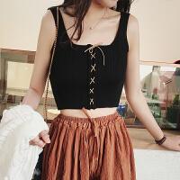 吊带背心女夏外穿内搭性感针织黑色上衣mschf韩版无袖打底衫