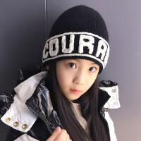 秋冬季原宿风儿童保暖套头帽冷帽中大童加厚男女孩针织护耳毛线帽
