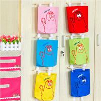 五彩挂袋 可爱多层墙上门后收纳挂袋 挂式收纳袋壁挂储物袋置物袋 颜色随机(2只装)