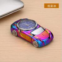 创意汽车手表USB充电打火机个性跑车金属男士点烟器生日礼品刻字