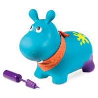 大黄蜂宝宝跳跳马加厚弹跳玩具儿童充气羊角球小马c 弹跳大河马(承重约50斤)