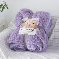 羊羔绒双层毛毯被子加厚珊瑚绒冬季法兰绒夏季薄款单人双人空调毯定制