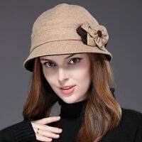 轻熟女时尚保暖渔夫帽 户外舒适女士圆顶礼帽