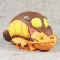 宫崎骏TOTORO龙猫模型 电车龙猫巴士 搪胶玩偶公仔摆件模型