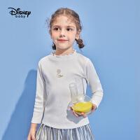 【2件3折价:44.7】迪士尼童装冰雪奇缘衣服女童可爱打底衫宝宝秋冬长袖上衣套头衫