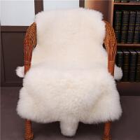 整张羊皮皮毛一体沙发羊毛地毯坐垫床边褥子垫飘窗垫客厅地垫长毛y