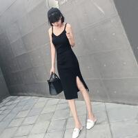 吊带针织连衣裙裙子女装春装夏季性感春秋内搭打底小黑裙