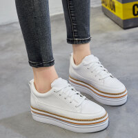 BANGDE加绒运动鞋女士休闲韩版冬学生加厚保暖棉鞋厚底小白鞋女板鞋