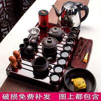 功夫茶具套装整套家用带茶盘陶瓷紫砂杯茶壶盖碗茶宠配件