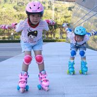 溜冰鞋儿童初学者宝宝全套装3-5-6岁旱冰鞋轮滑鞋男女直排轮可调