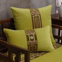 新中式红实木沙发抱枕吉祥绒布刺绣中国风古典大气样板房腰枕靠垫