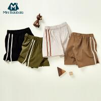 迷你巴拉巴拉男童短裤夏装新款儿童短裤侧条纹休闲运动裤短款