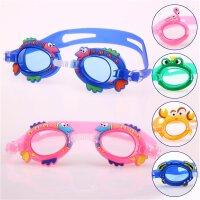 新款儿童泳镜男女童宝宝防水防雾高清硅胶游泳眼镜洗澡镜