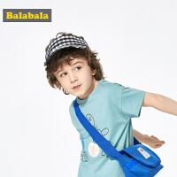 巴拉巴拉儿童帽子男潮夏装2019新款女童空顶遮阳帽时尚格纹鸭舌帽