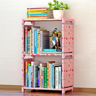 蜗家简易书架加固书柜现代简约桌上三层书架置物架103