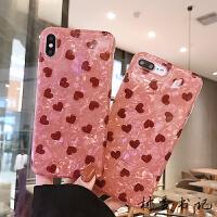 爱心贝壳纹8plus苹果x手机壳XS Max/XR/iPhoneX/7p/6女iphone6s套 XR 粉贝壳 平铺红
