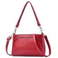 中年女包妈妈包新款大包大容量多层女包包单肩斜挎包软皮斜背