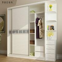 推拉门衣柜 时尚衣橱卧室板式衣柜储物柜 移门整体衣柜 2门