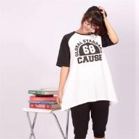 当当优品 孕妇装 孕妇T恤 DWYWA3405 白色/黑色 XL