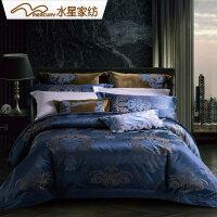 【双12年终狂欢 1件3折】水星家纺 欧式大提花八件套床上用品 新月之城