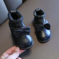 儿童棉鞋 女童加绒棉鞋2020秋冬新款韩版公主鞋女童中小童洋气加厚休闲鞋