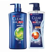 清扬男士 洗发沐浴套装 清爽控油650ml+活力运动720g