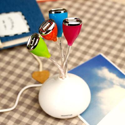 春芽USB分线器 扩展4接口USB接口 HUB 高速扩展 集线器