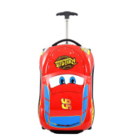 3卡通儿童拉杆箱男女旅行箱宝宝行李箱20寸密码万向轮小孩登机箱 红色-3汽车 单向轮 可坐可骑 18寸 卡通3立体儿童