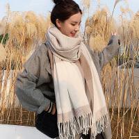 围巾女冬季韩版百搭仿羊绒披肩复古编织加厚保暖学生必备围脖
