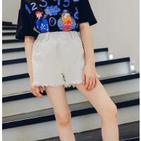 女童短裤夏季儿童休闲裤夏装中大童裤子白色外穿