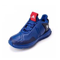 阿迪达斯(adidas)儿童鞋新款运动鞋大童漫威蜘蛛侠男女童松紧带跑步鞋AH2453 蓝色