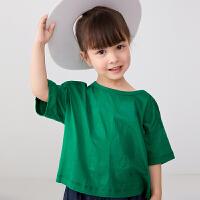 【秒杀价:70元】马拉丁童装女小童T恤2020夏装新款水果图案宽松基础T恤短袖