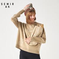 森马毛衣女冬季新款慵懒宽松套头长袖针织毛衫少女甜美打底衫