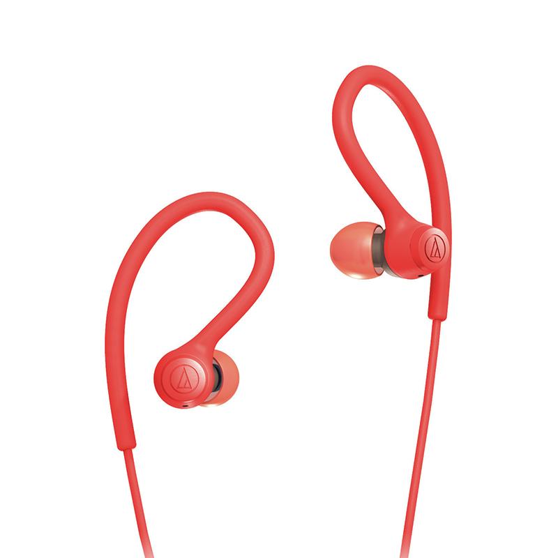 Audio Technica/铁三角ATH-SPORT10运动耳机挂耳式跑步专用运动防掉跑步不掉固定防水防汗入耳式有线高音质