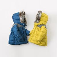 davebella戴维贝拉童装冬季新款男童宝宝中长款保暖羽绒服DB11477