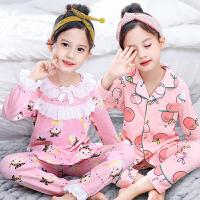 春秋季儿童女童睡衣长袖公主女孩子中大童小孩宝宝家居服套装