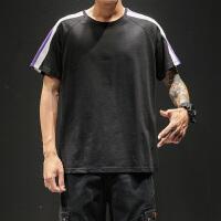 男士短袖t恤2019夏季新款半截袖男装潮流纯棉休闲体恤打底衫上衣VZTX19300