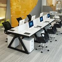 办公家具职员办公桌椅组合 简约现代屏风工作位职员办公桌桌椅组合电脑四人位4屏风工作6工位办公室家具