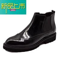 新品上市冬季马丁靴男高帮皮鞋男士靴男真皮短靴漆皮靴男靴子