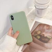 纯色软壳8plus苹果x手机壳XS Max/XR/iPhoneX/7p/6女iphone6s硅胶 6/6s 绿色