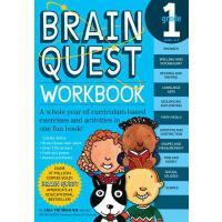 现货 英文原版 Brain Quest Grade 1 益智挑战 一年级练习带粘纸